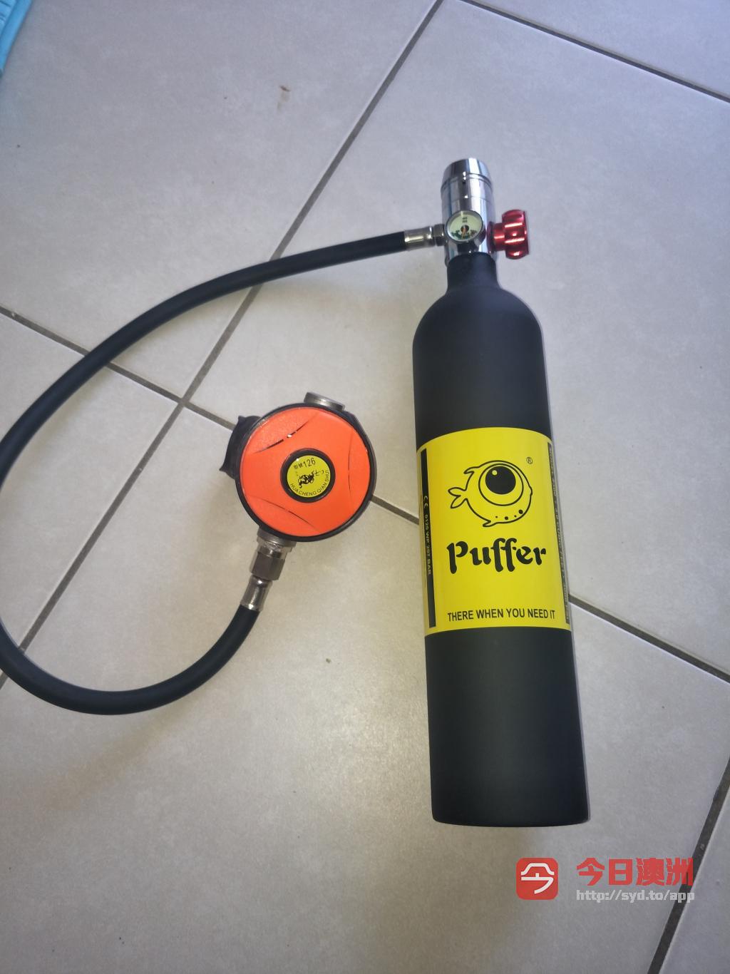 puffer潜水呼吸器深潜便携专业水下氧气罐鱼鳃游泳呼吸器全套装备