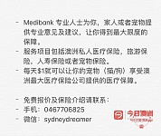 Medibank 医疗宠物旅游人寿保险咨询微信sydneydreamer
