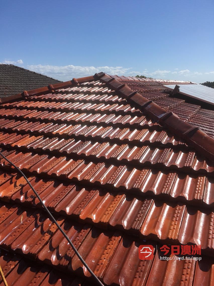 持牌专业洗瓦喷漆维修屋顶漏水水槽清洁更换等
