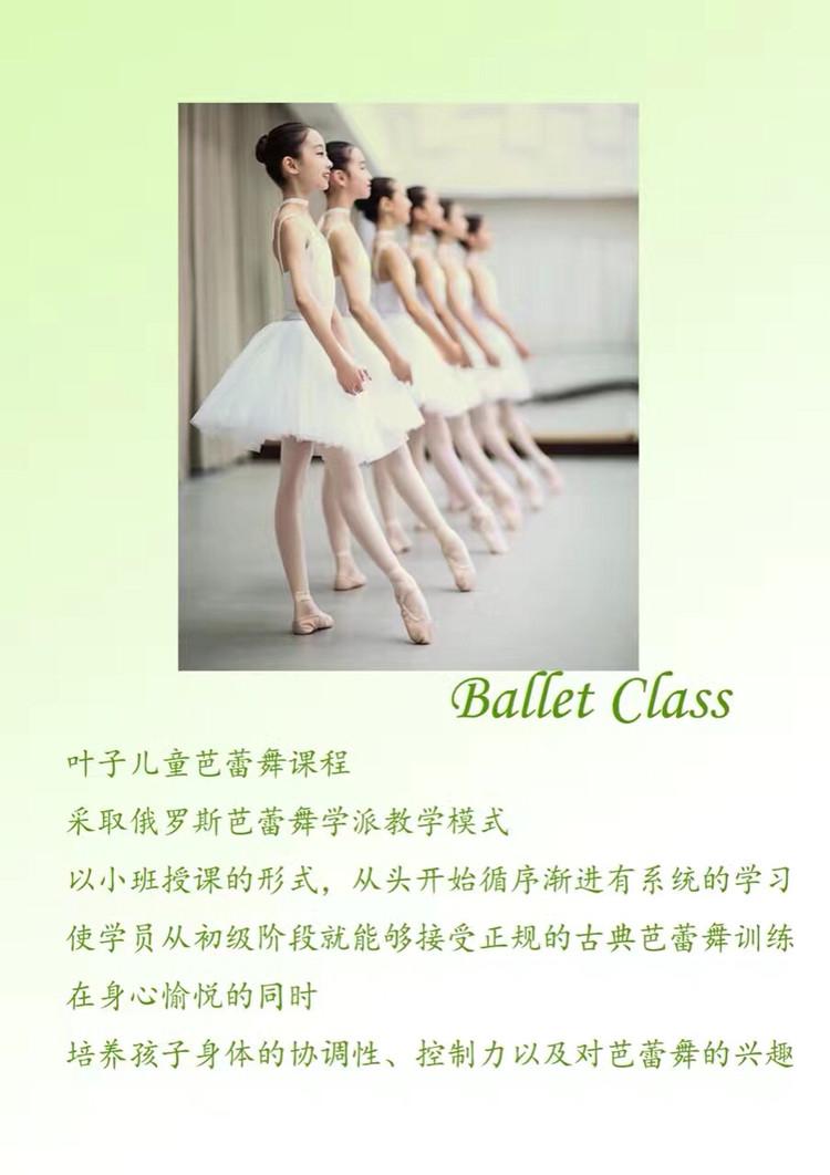 悉尼叶子芭蕾舞课程招生