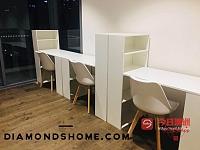 市场最低价  IKEA同款小书桌只售 49棕色带书柜书桌特价99