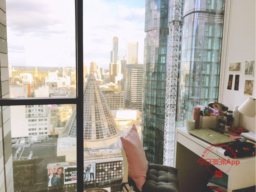 Melbourne City CBD两室一卫单间招一名室友下楼RMIT