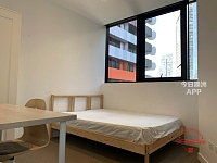 Melbourne City 步行到RMITCity人脸楼551 Swanston St  大窗户city view 靓房招租