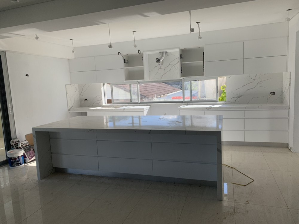 kitchen benchtop 厨房大理石设计安装