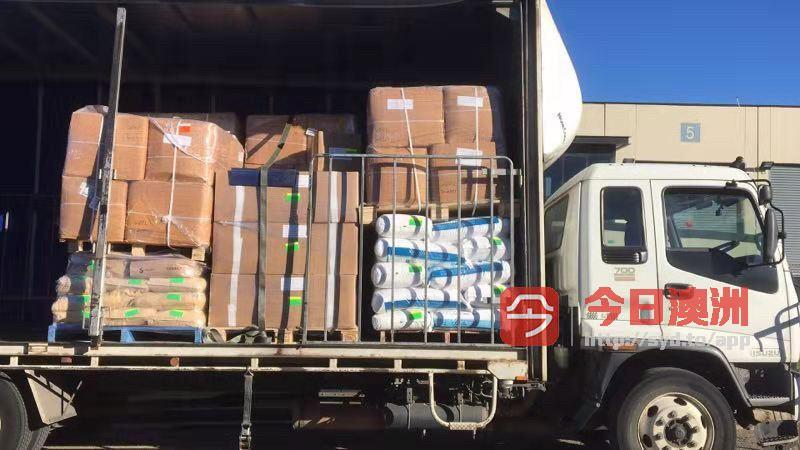 侧帘卡车送货