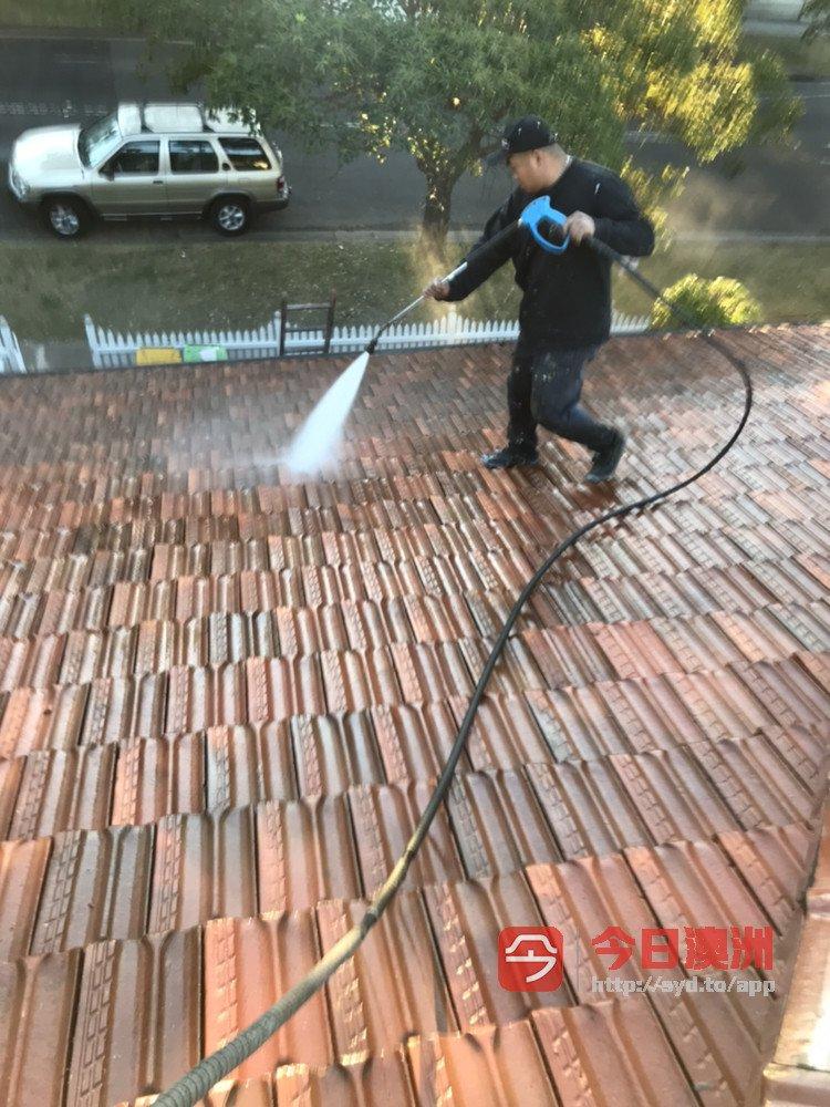 屋顶维修洗瓦喷漆