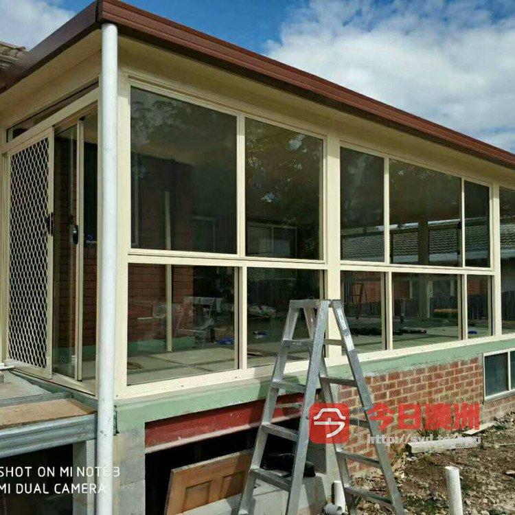 悉尼阳光铝合金门窗厂  双层隔音窗 阳光房 木窗改铝门窗  封阳台