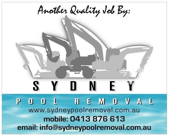 悉尼专业泳池拆除