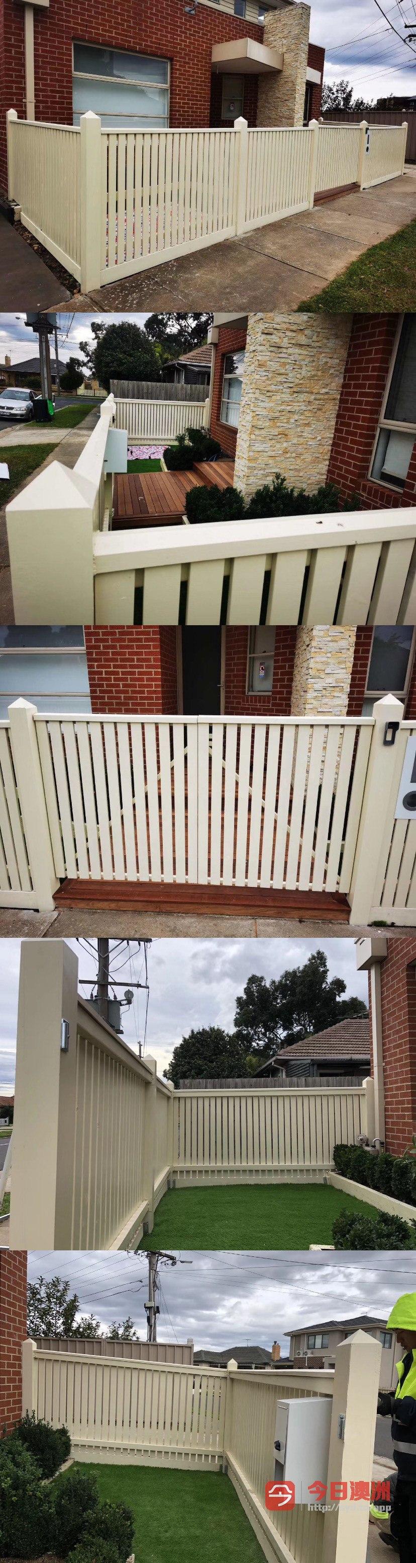 栏杆棚花园假草大门围墙施工设计