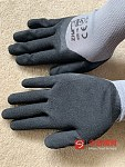 超实惠14块12双高质量磨砂护指安全手套