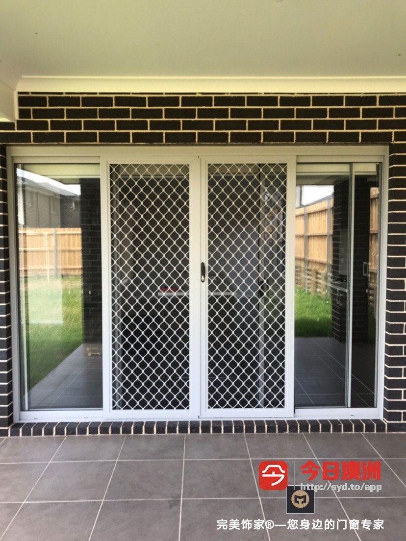 厂家直销玻璃门窗护栏窗帘防盗纱门 中介开发商长年合作