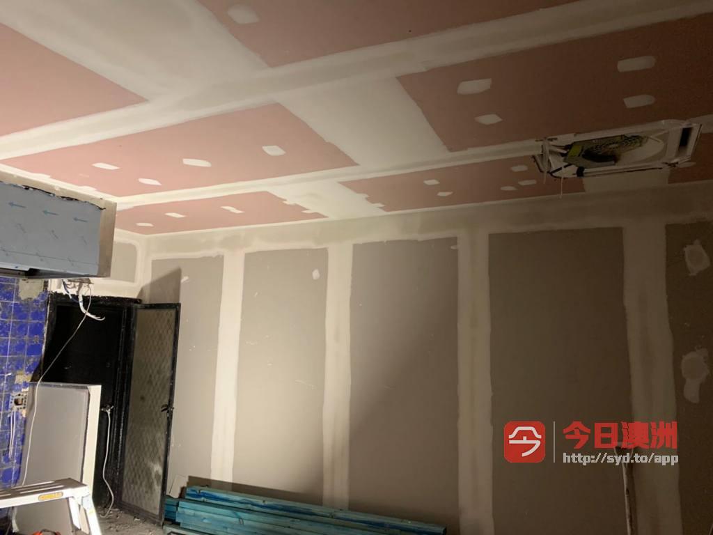 室内gyprock隔墙 吊顶 装门  油漆 旧房翻新
