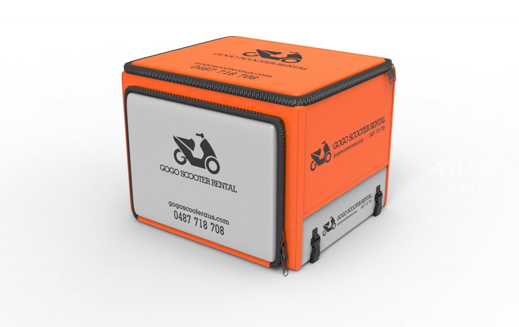 免费金属送餐架送餐箱安装摩托车租赁