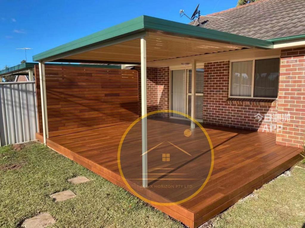 悉尼金属框架decking pergola硬木复合材料 露台建造