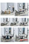 北欧高档轻奢大理石餐桌   餐椅随意搭配 超高性价比
