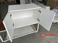 White gloss 2 PAC Cabinets for sale