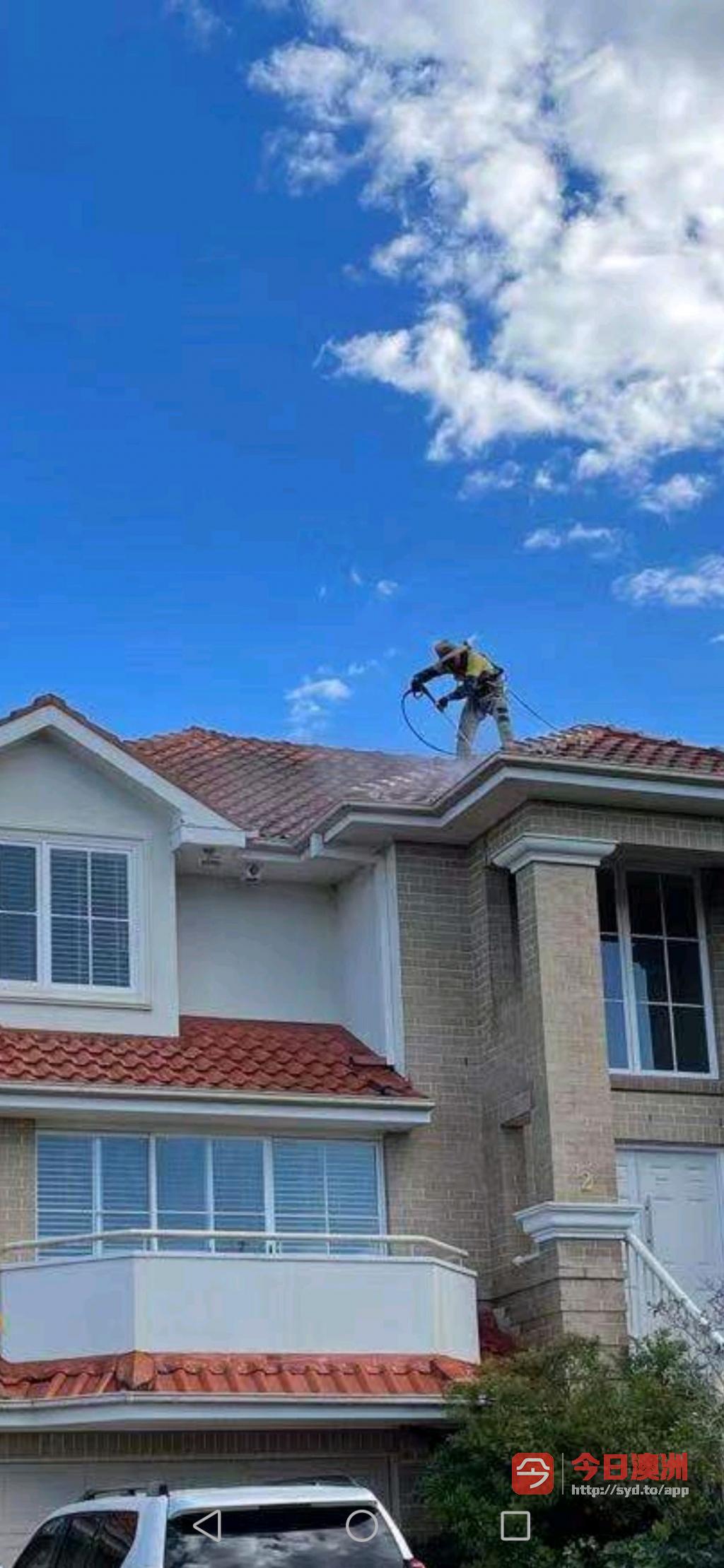 专业维修清洁瓦顶及喷漆