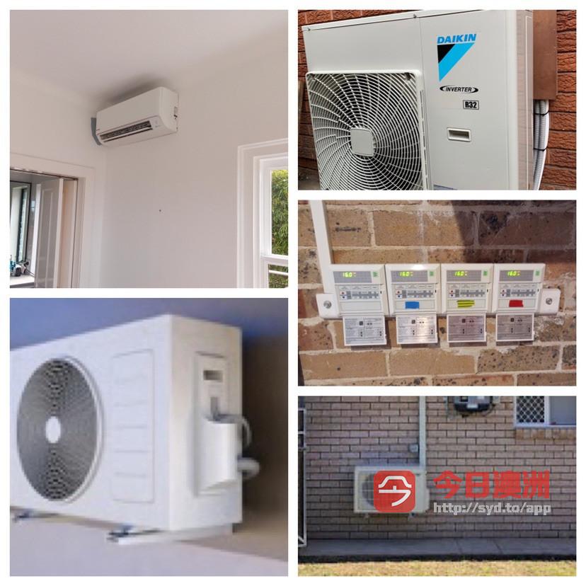 悉尼有证电工空调 安装400起包括材料  性价比最高 免费现场报价 加氟