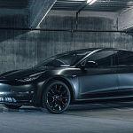 缎黑色特斯拉Model 3 看起来像个宇宙黑洞